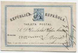 1874 EP De Granada A Berja (Almería) Cancelado Araña Con 5 De Granada, Al Dorso, Llegada. - Lettres & Documents