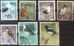 HONG KONG 2006 Fauna - Birds 7 Postally Used Stamps Michel # 1387A,1390A,1391A,1397A.1398A,1399,1401 - Usados