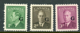 "Canada MNH 1950 King George Vl ""Postes Postage"" Overprinted G - Nuevos"