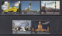 2010 Jordan Mosques Complete Set Of 5 MNH - Jordania