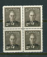 "Canada MNH 1950 King George Vl ""Postes Postage"" - Nuevos"