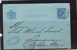 1884 W.H. Kooy Rotterdam > Ambulant # 8 Langenau Switzerland (BV) - Briefe U. Dokumente