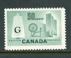 "Canada MNH 1953-55 Definitives ""Textile Industry"" - Usados"