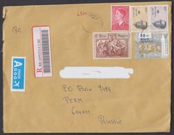 2010-R-COVER FROM BELGIUM/ESTINNES AU MONT TO RUSSIA - Cartas
