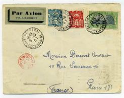 Lettre AIR ORIENT  De SAIGON CENTRAL Pour PARIS / 1931 / Marque De Controle Affranchissement AVION  / Cochinchine - Lettres & Documents