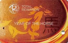 Harrah's Casino Year Of The Horse 2013 BLANK Slot Card - Casino Cards