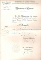Ordre Impérial De La Légion D'Honneur Nomination Du Chevalier Huard Joseph Chirurgien Militaire 1860 - Historische Documenten