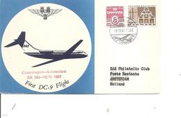 Danemark - Aérophilatélie ( Vol Copenhagen -Amsterdam De 1967 à Voir) - Aéreo