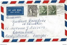 212 - 35 - Enveloppe Envoyée De Melbourne En Suisse - Briefe U. Dokumente