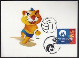 Croatia Zagreb 2016 / Beach Volleyball / European Universities Games / Mascot HRKI / MC / Sport - Pallavolo