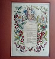 Calendario 1856 Con Successiva Acquarellatura Con N. 12 Mesi Ognuno Con Passapartout (H47) Come Da Foto Inciso Dai Frate - Big : ...-1900