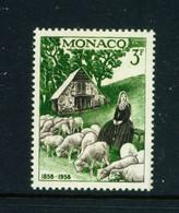 MONACO  -  1958 Lourdes 3f Never Hinged Mint - Unused Stamps
