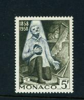 MONACO  -  1958 Lourdes 5f Never Hinged Mint - Unused Stamps