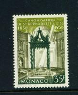 MONACO  -  1958 Lourdes 35f Never Hinged Mint - Unused Stamps