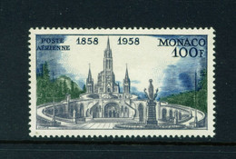 MONACO  -  1958 Lourdes 100f Never Hinged Mint - Unused Stamps