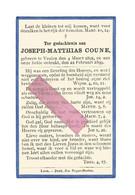 DD 685. JOSEPH - MATTHIAS  COUNE - °VEULEN 1891 / + 1899 - Devotion Images
