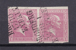 Preussen - 1858 - Michel Nr. 10 Paar - Dreizeiler Stempel - Gestempelt - Prussia