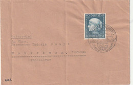 Bundesrepublik Deutschland - 1954 - Mi. 203 EF Auf Brief Ex Nidda Nach Wolfsberg/Kaernten (1/354) - Cartas
