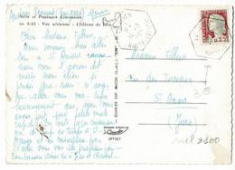 Cachet Hexagonal Trait Plein - Le Vigen (74), Circ 1965 Sur CP, Sites & Paysages Limousins - Vue Aérienne, Château Brie - 1961-....