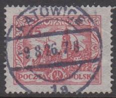1925. POLSKA. Wawel Castle 15 Gr. LUXUS Cancel KATOWICE 9.8.26. (Michel 238) - JF415566 - Used Stamps