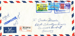 Netherlands Antilles Registered Cover Sent To Germany Willemstad 29-7-1999 - Curacao, Netherlands Antilles, Aruba