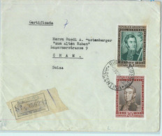 93974 - ARGENTINA - POSTAL HISTORY -  REGISTERED COVER To SWITZERLAND 1950 - Briefe U. Dokumente