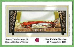 Santino/reliquia/holycard/relic: S. FEDELE M. - M - PR - Religión & Esoterismo
