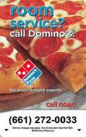 Dominos Pizza Hotel Room Key Card - Cartas De Hotels