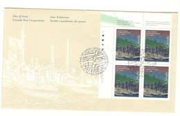 Canada Stamps Unaddressed FDC British Columbia  Upper Left Plate Block Of 4 1995 - 1991-2000