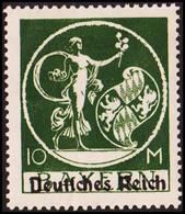 1920. DEUTSCHES REICH Overprint On BAYERN 10 M. Hinged. (Michel 137 I) - JF415484 - Neufs