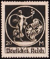 1920. DEUTSCHES REICH Overprint On BAYERN 20 M. Hinged. (Michel 138 I) - JF415485 - Neufs