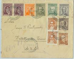 93977 - ARGENTINA - POSTAL HISTORY - REGISTERED Cover To USA 1941  Surface Mail - Briefe U. Dokumente