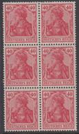 1920-1921. DEUTSCHES REICH 40 Pf. Germania. 6-block. Never Hinged. (Michel 145) - JF415521 - Neufs