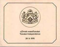 Transkei - 1976 Independence Collectors Sheet # SG 18-21 , Mi 18-21 - Transkei