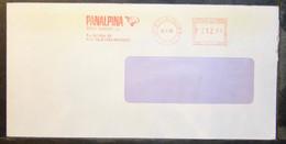 Belgium - Advertising Meter Franking Cover EMA 1985 Kelmis La Calamine Panalpina Transport Wings - 1980-99