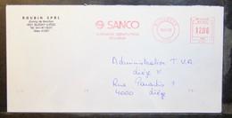 Belgium - Advertising Meter Franking Cover EMA 1984 Micheroux Sanco Business Computers - 1980-99