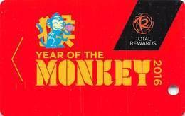 Harrah's Casino Total Rewards Year Of The Monkey 2016 Slot Card BLANK - Casino Cards