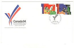 Canada Stamps Unaddressed FDC Commonwealth Games Se-tenant Stamps 1994 - 1991-2000