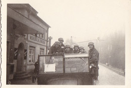 PHOTO ORIGINALE 39 / 45 WW2 WEHRMACHT ALLEMAGNE IDAR OBERSTEIN DÉPART DES SOLDATS ALLEMAND VERS LA FRANCE - Guerra, Militari