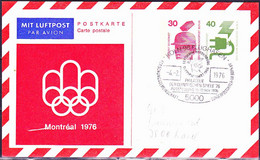 Berlin - Privatpostkarte Olympiade Montreal (PP 72 C1//001a) 1976 - Siehe Scan - Postales Privados - Usados