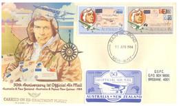 (JJ 26) Australia - 2 Covers - 50th Anniversary Of 1st Air Mail From Australia To Papua New Guinea & New Zealand - Primi Voli