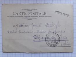 19-12-1914 - 23ème Bataillon De Chasseurs (voir Texte) à Villefranche Sur Saône (69) - Cartes De Franchise Militaire