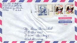 USA 1966 / Saint Petersburg Nach Bamberg - West Germany - Air Mail - Cartas