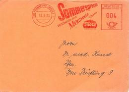 Frankfurt (Main) Sommersprossen Merzweiss Crème / Deutsche Bundespost 004 - Lettres & Documents