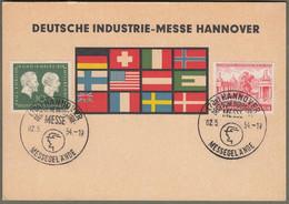 "Berlin: Sonderkarte Mit Mi.-Nr. 197 U. Berlin 116 SST: "" Deutsche Industrie-Messe Hannover 1954 "" !    X - Cartas"