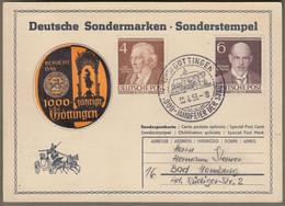 """Berlin: Sonderkarte Mit Mi.-Nr. 91 U. 93 SST: """" 1000-Jahrfeier Der Stadt Göttingen """" !   X - Cartas"""