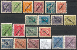 D - [857072]TB//*/Mh-c:22e-Autriche 1918-19 - N° 169/87, Série Complète, */mh Propre Grand Fraîcheur - Nuevos