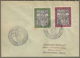 """Bund: Brief Mit Mi.-Nr. 139-40 SST: """" 700 Jahre Marienkirche Lübeck """"     X - Cartas"""