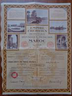 MAROC - RABAT 1933 - EMPIRE CHERIFIEN, PROTECTORAT REPUBLIQUE FRANCAISE, OBLIGATION DE 1 000 FRS - Unclassified