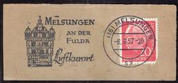 Deustchland - 1957 - Fragment Brief - Mit Lufpost - A1RR2 - Lettres & Documents
